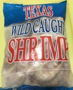 2 lb bag of wild shrimp from Texas