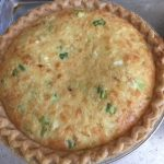 photo of a prepared Dungeness Crabmeat in a deep dish pie shell